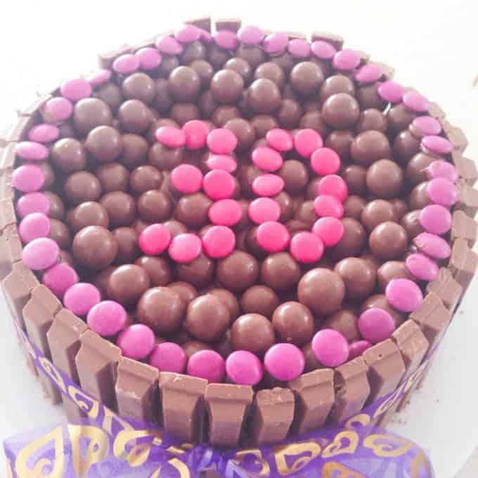 Malteser and Kit Kat Birthday Cake