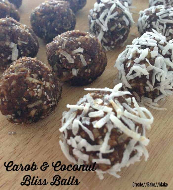 Carob and Coconut Bliss Balls