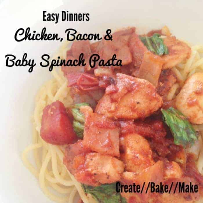 Chicken Bacon and Baby Spinach Pasta