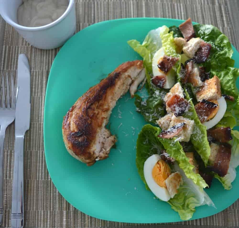 how to make chicken caesar salad video
