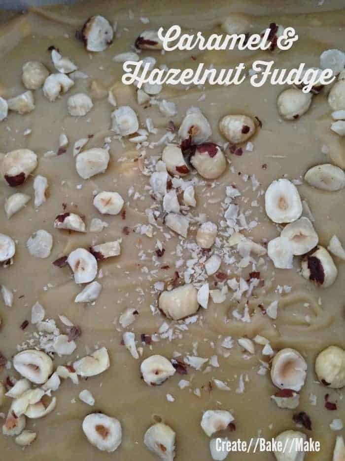 caramel and hazelut fudge