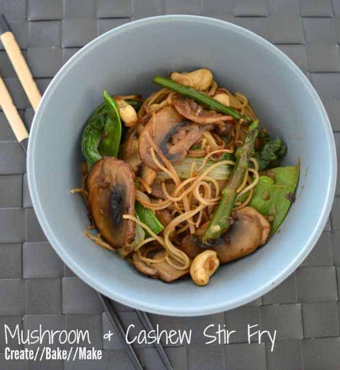Mushroom & Cashew Stir Fry Feature