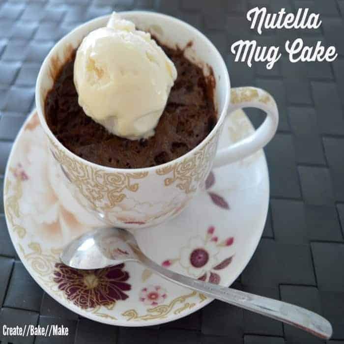 Nutella Mug Cake Feature