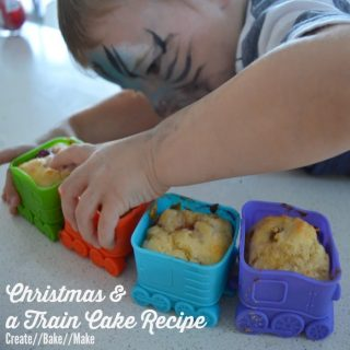 It's beginning to look a lot like Christmas and a banana and raspberry 'train cake' recipe