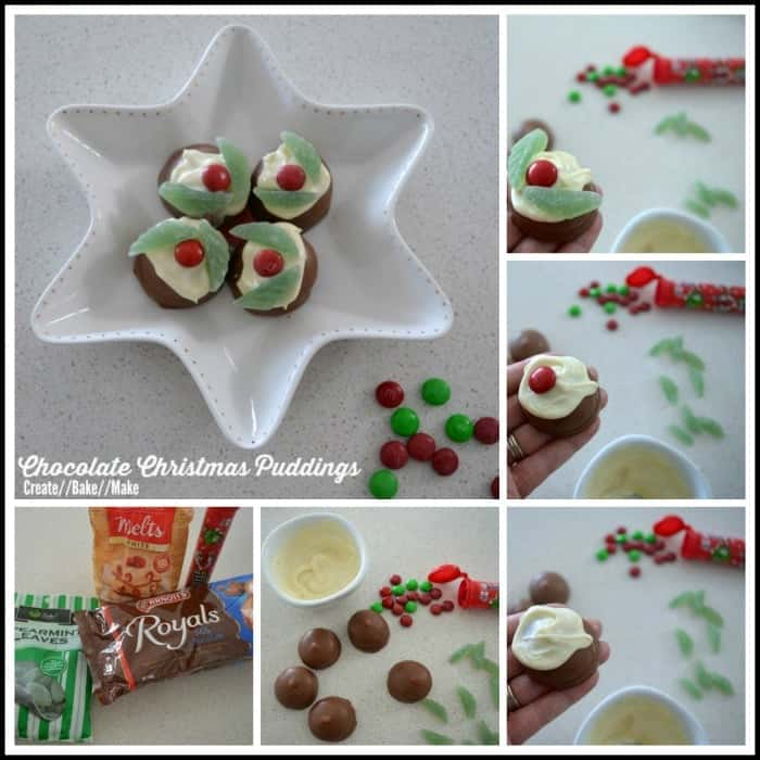 Chocolate Christmas Pudding Collage