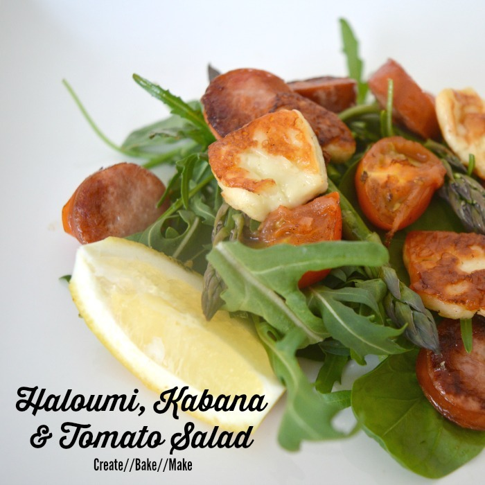 Haloumi Kabana and Tomato Salad Feature