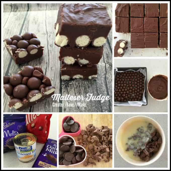 Malteser Fudge Collage