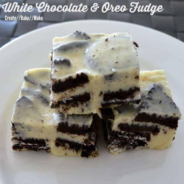 White Chocolate and Oreo Fudge