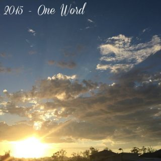 2015 – One Word