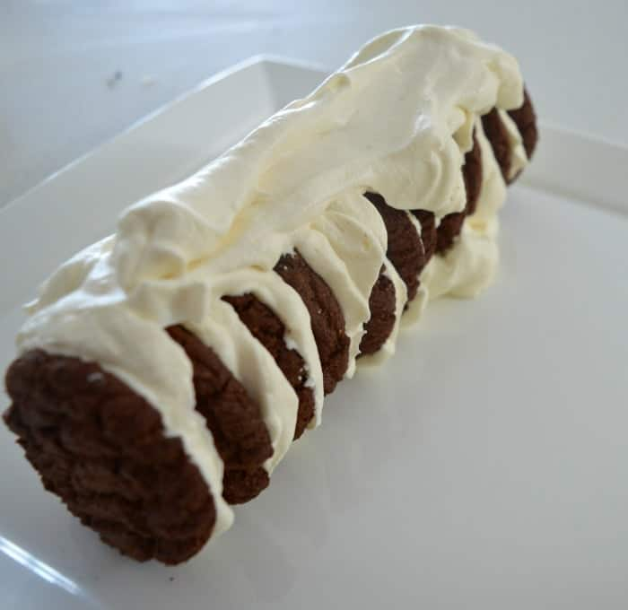 Chocolate Ripple Biscuit Cake