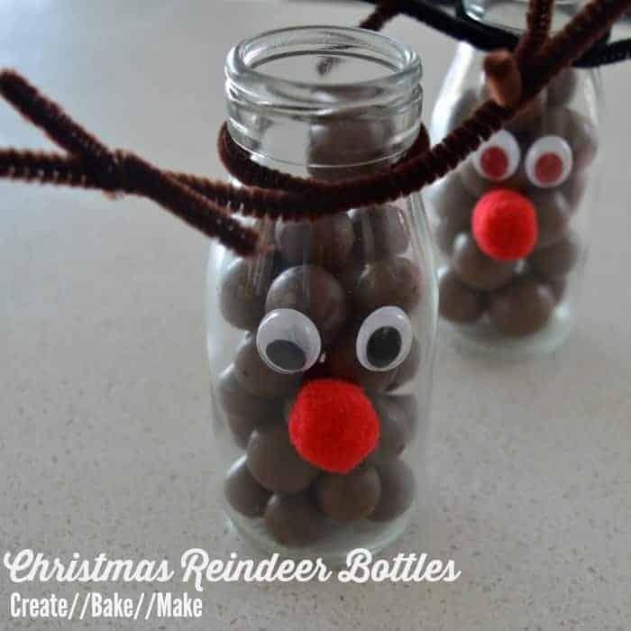 Christmas Reindeer Bottles