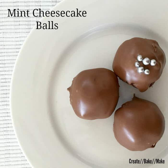 Mint cheesecake balls