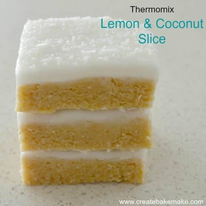 Lemon and Coconut Slice Thermo CBM