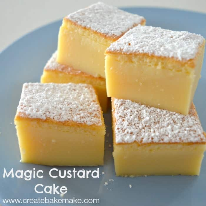 Lemon Magic Custard Cake Recipe