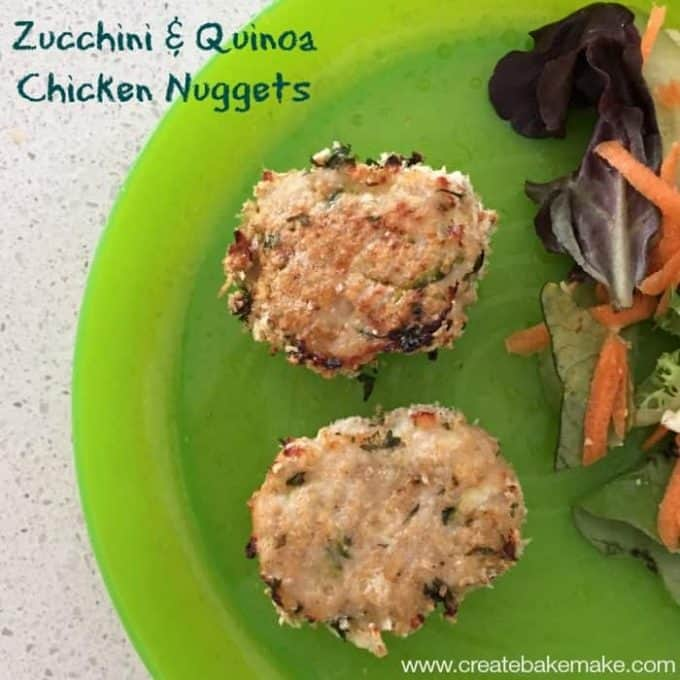 Zucchini and Quinoa Chicken Nuggets