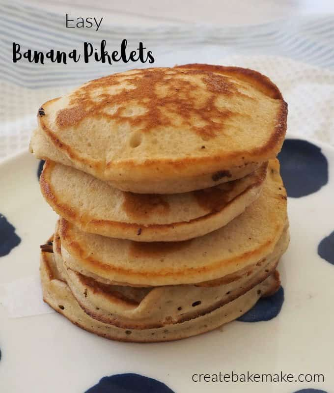 How to make easy Banana Pikelets! Both regular and Thermomix instructions included.