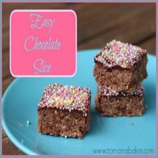Easy Chocolate Slice – Fabulous Foodie Fridays #40