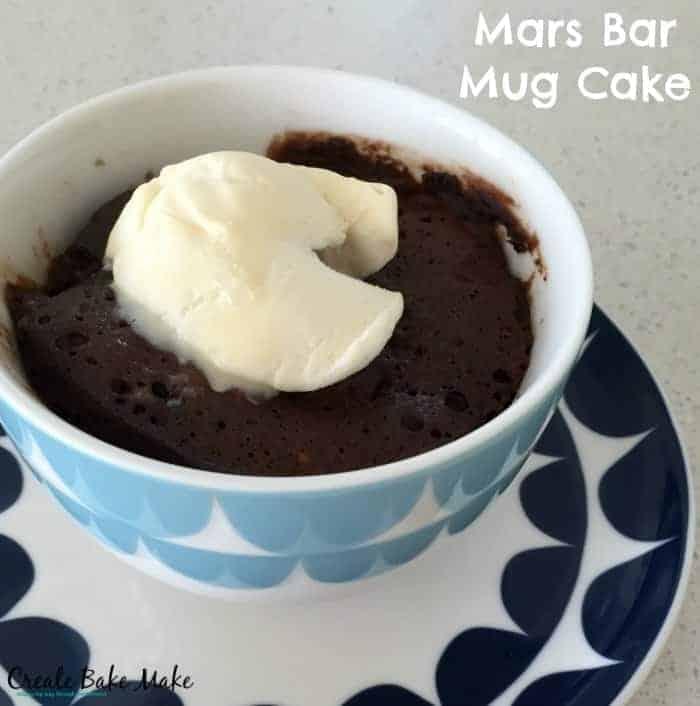 Mars Bar Mug Cake