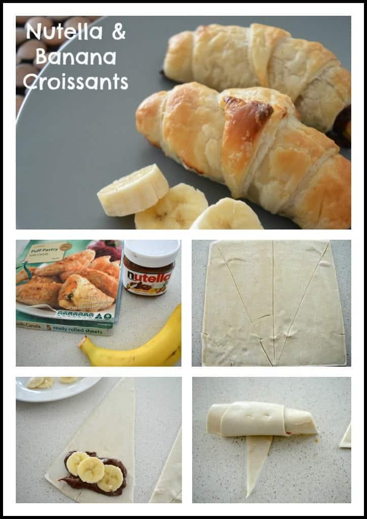 Nutella & Banana Croissants