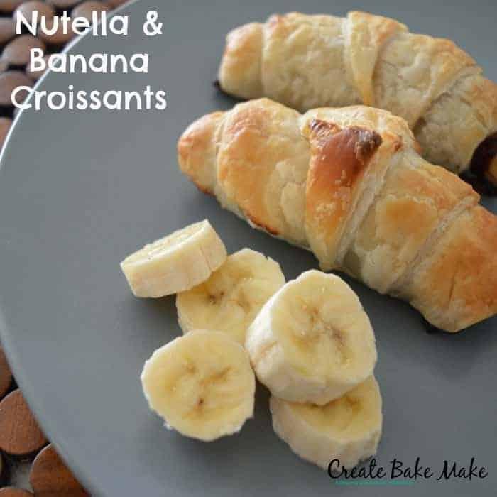 Nutella and Banana Croissants 1