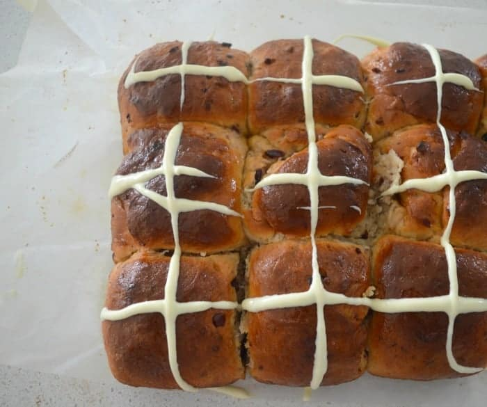 White Chocolate and Cranberry Hot Cross Buns 4
