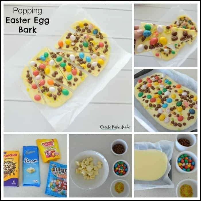 Easter Egg Bark Collage