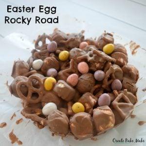 How to make Caramel Easter Egg Rocky Road - the best Easter Dessert!