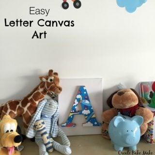 Easy Letter Canvas Art