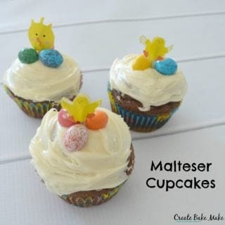 Malteser Cupcakes and getting our craft on