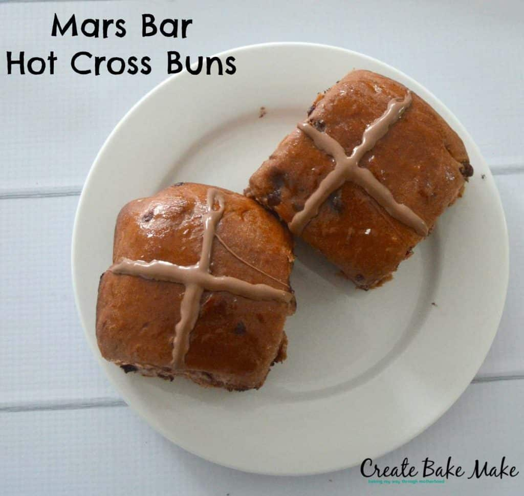 Mars Bar Hot Cross Buns 4