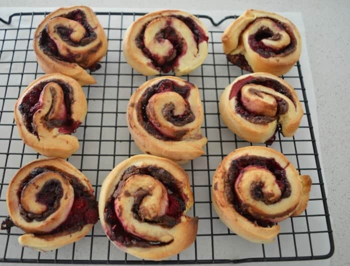 Nutella and Raspberry Scrolls 2