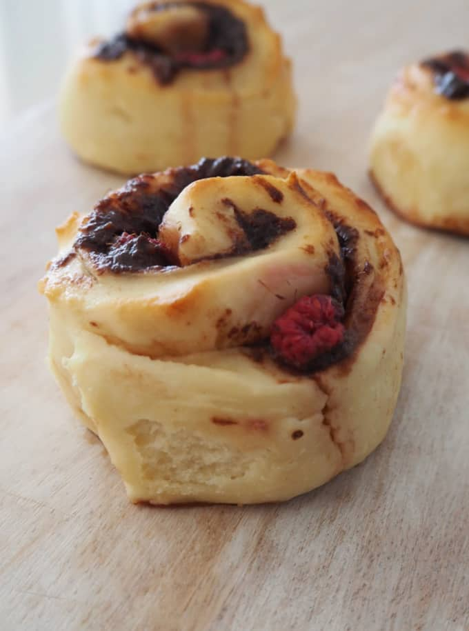 Nutella and Raspberry Scrolls Recipe