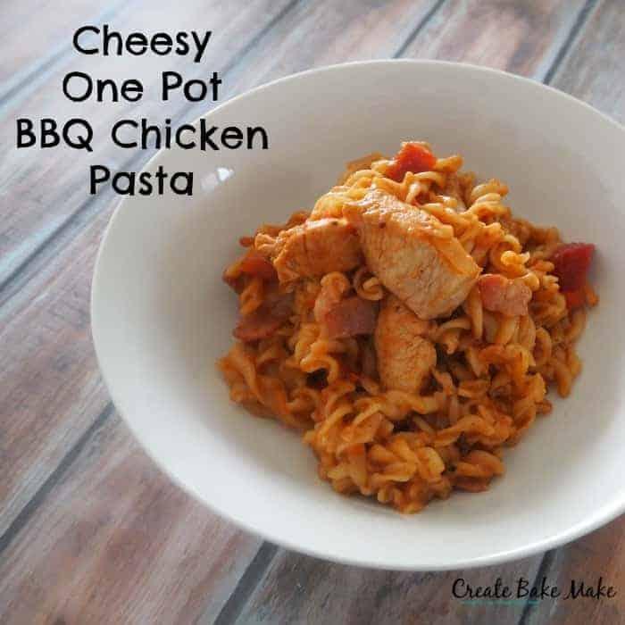 Cheesy One Pot BBQ Chicken Pasta