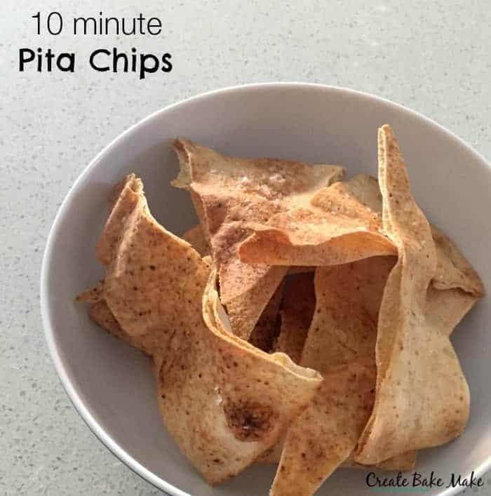 10 minute Pita Chips