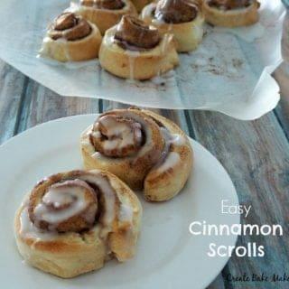 Easy Yeast Free Cinnamon Scrolls