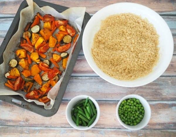 Roasted Vegetable and Fetta Salad