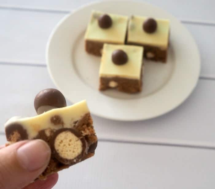 NO BAKE MALTESERS SLICE