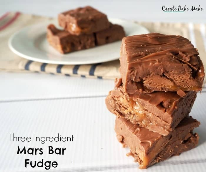 Three Ingredient Mars Bar Fudge