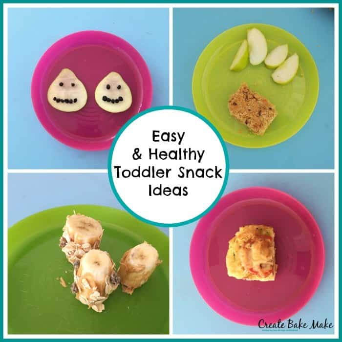 Toddler Snack Ideas Collage