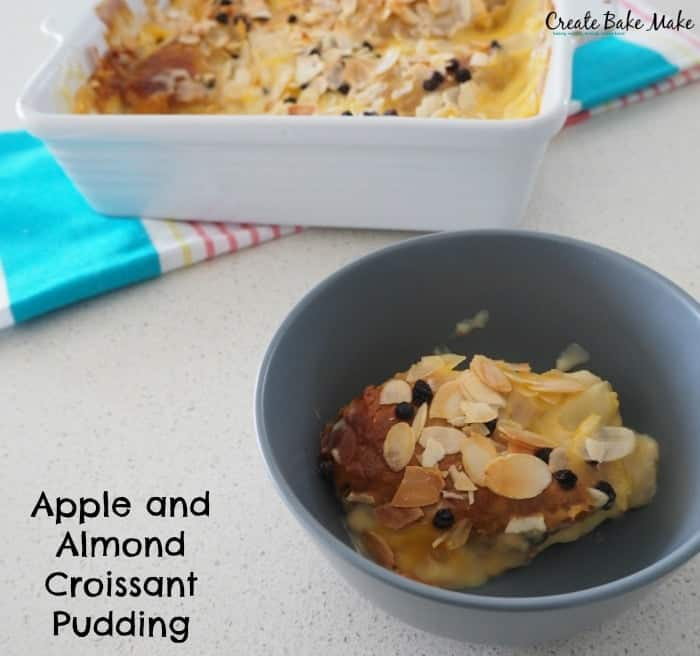 Apple and Almond Croissant Custard Pudding
