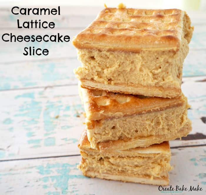 Baked Caramel Cheesecake Slice