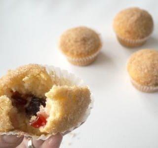 Cinnamon and Jam Doughnut Muffins