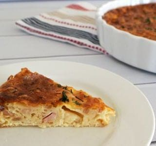 Egg and Bacon Impossible Pie