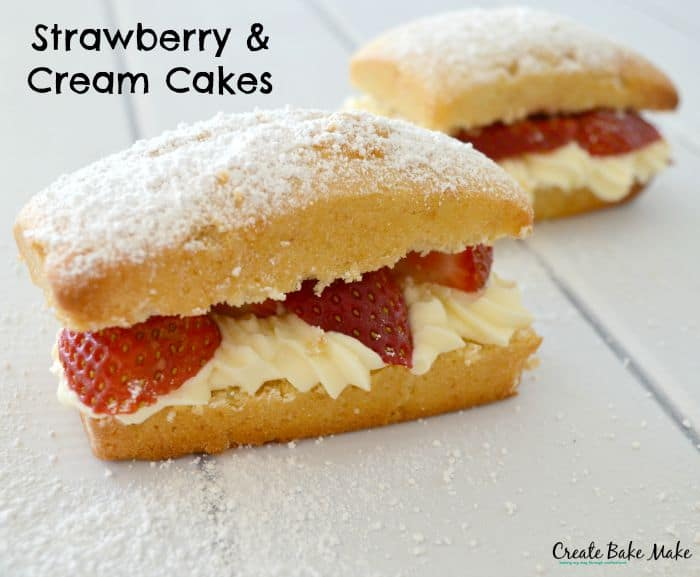 Strawberries and Cream Cakes