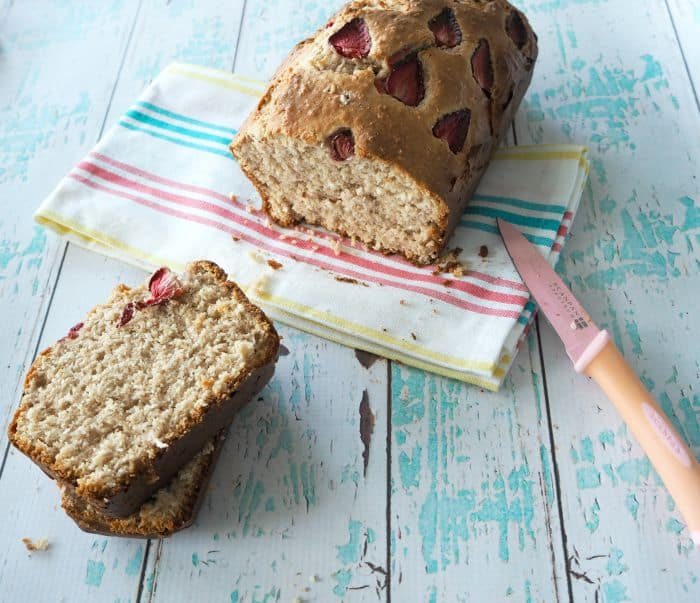 Simple Strawberry and Banana Loaf