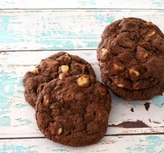 The Ultimate Triple Choc Cookies