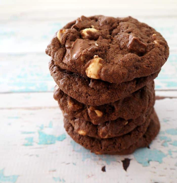 Triple Chocolate Chip Cookies