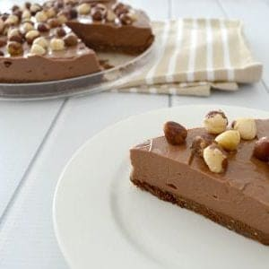 Thermomix No Bake Chocolate and Nutella cheesecake