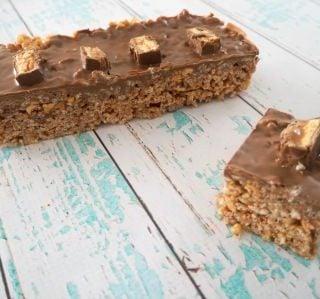 No Bake Snickers Slice Recipe