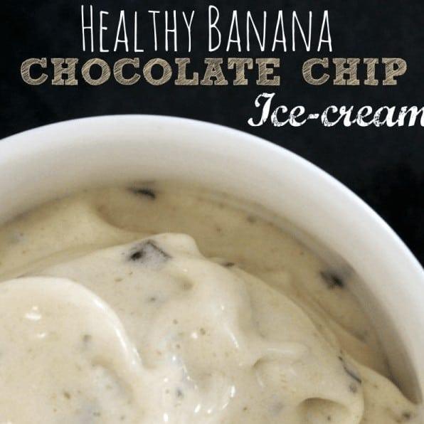 Healthy Banana Chocolate Chip Ice Cream